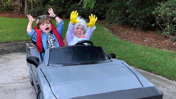 PHOTO: This Halloween, Row Willis is dressing as Marty McFly and his brother Charlie is going as Doc from the film, 'Back to the Future.' (Lauren Willis)