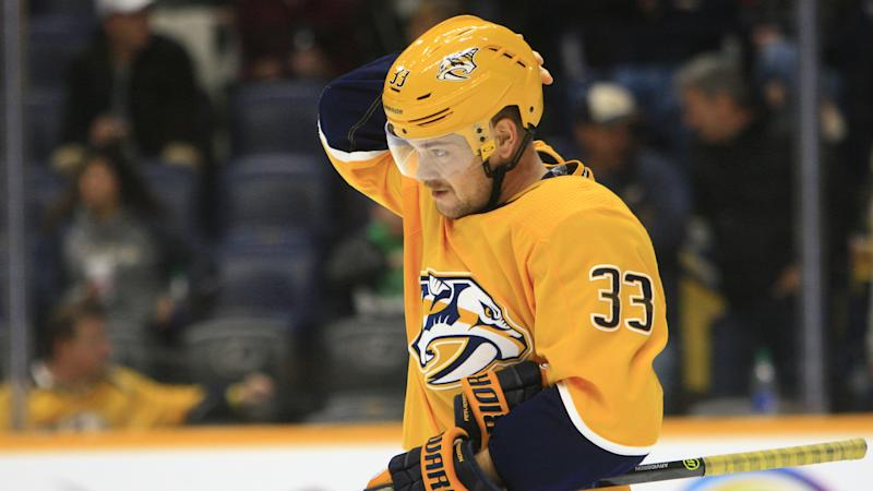 The Nashville Predators forward suffered a vicious cross-check on Saturday. (Photo by Danny Murphy/Icon Sportswire via Getty Images)