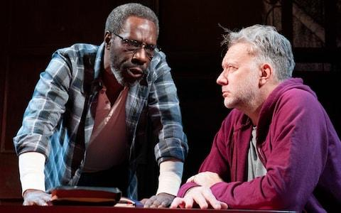 Gary Beadle (left) and Jasper Britton in The Sunset Limited - Credit: Alastair Muir