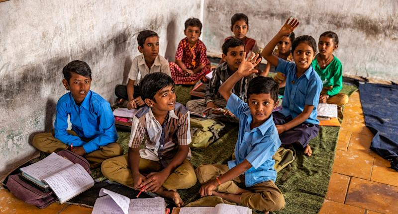 Indian school children in classroom, Rajasthan, India. Photo: Getty Images
