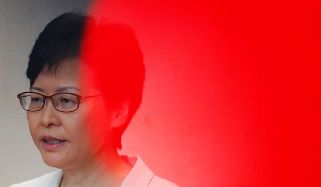 Hong Kong Chief Executive Carrie Lam shrugged off the downgrade. Photo: Reuters