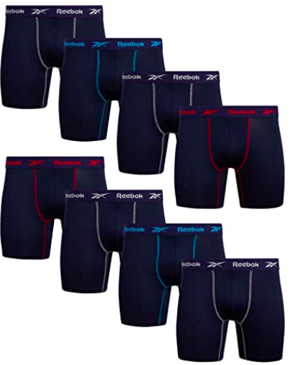 Reebok Performance Boxer Briefs with Comfortable Contour Pouch (8 Pack), S$70.32. PHOTO: Amazon