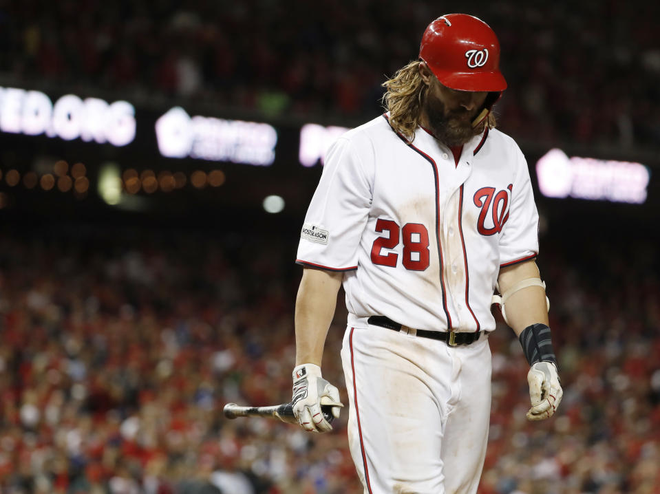 FormerWashington National Jayson Werth wanted to play Major League baseball in 2018, but he says teams didn't know. (AP Photo)