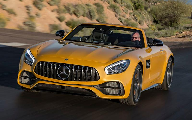 Mercedes-AMG GT C Roadster - Arizona March 2017 - Mercedes-Benz Cars press photo, do not use for advertising purposes