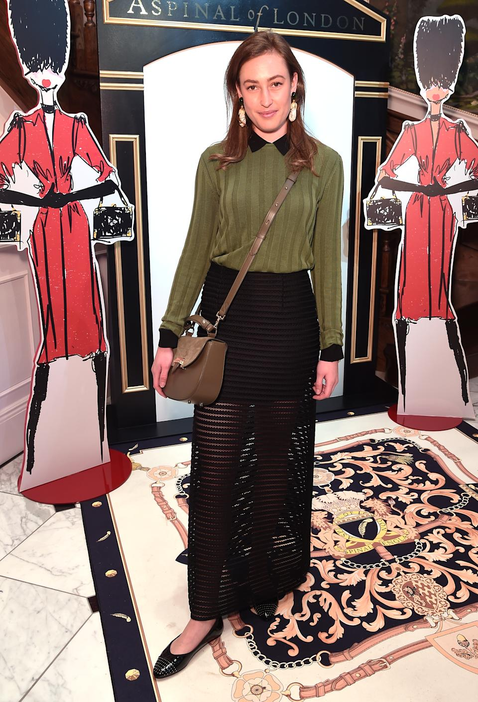 LONDON, ENGLAND - FEBRUARY 18: Lady Tatiana Mountbatten attends the Aspinal of London AW19 presentation during London Fashion Week February 2019 at the Aspinal Of London on February 18, 2019 in London, England. (Photo by Eamonn McCormack/BFC/Getty Images)