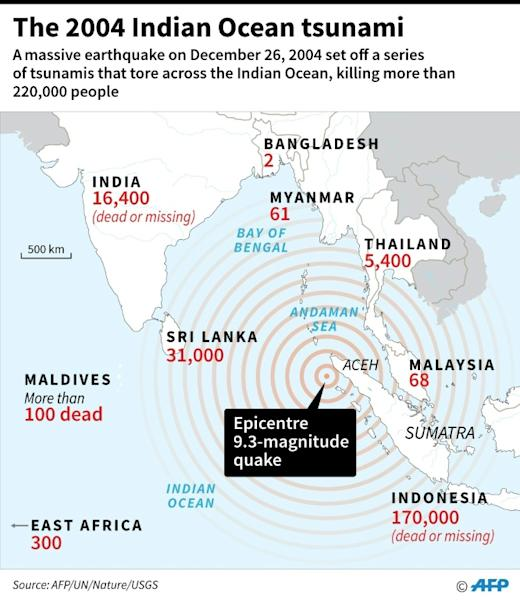 The 2004 Indian Ocean tsunami killed more than 220,000 people (AFP Photo/Gal ROMA)
