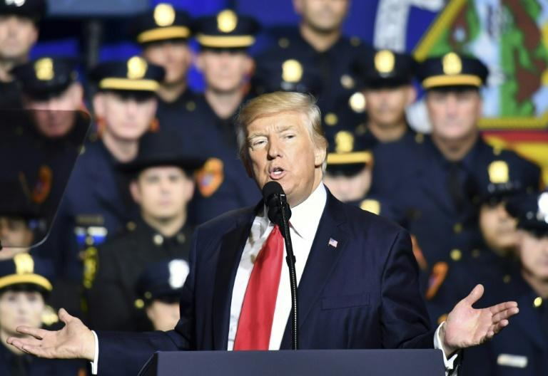 """US President Donald Trump says """"animals"""" in gangs like MS-13 have """"butchered"""" little girls, and transformed peaceful areas into """"blood-stained killing fields"""""""