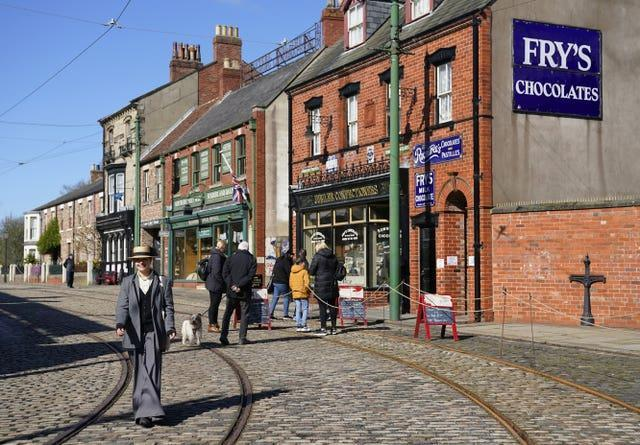 People at Beamish Museum near Stanley, Co Durham, the open-air museum after it reopened to visitors (Owen Humphreys/PA)