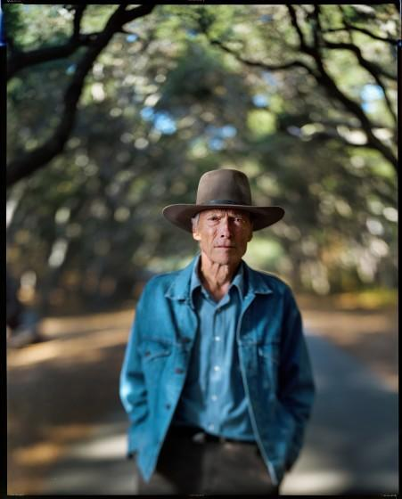 Clint Eastwood, 91, photographed with 8x10-inch film camera, at his Tehama Golf Club, Carmel-by-the-Sea, Sept. 2, 2021