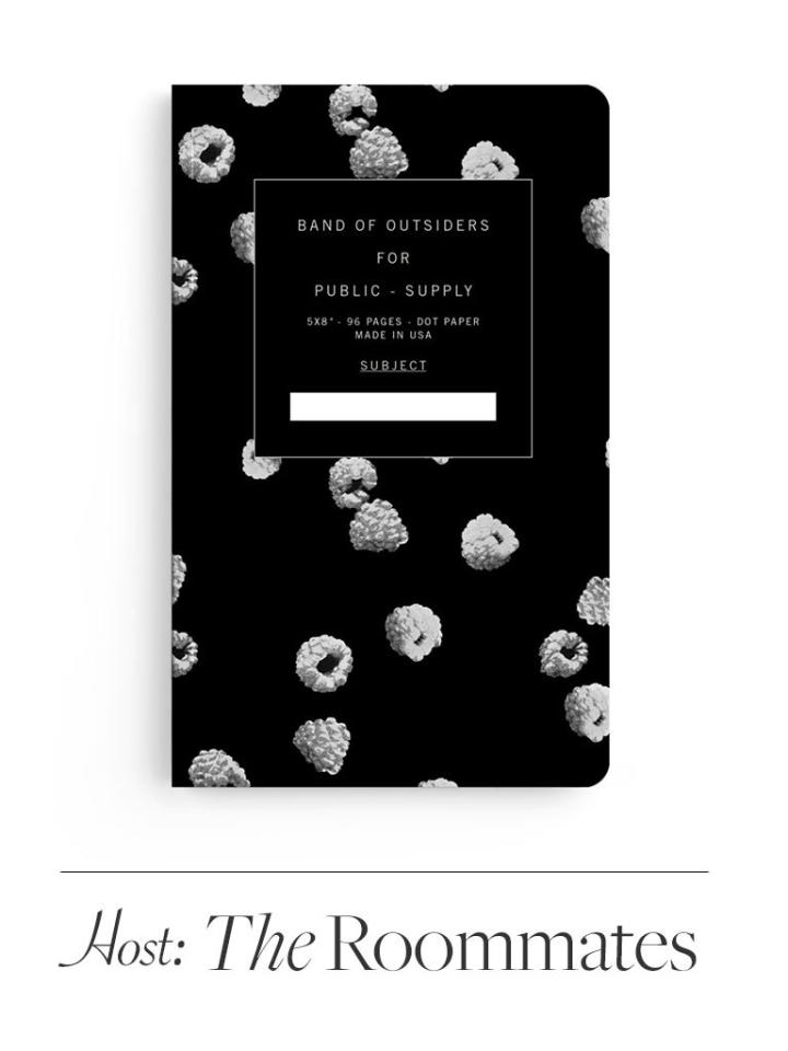 Since there's little point in bringing something for the house (it'll probably get trashed at some point), gift a notebook designed by the recently-shuttered fashion brand Band of Outsiders for Public Supply, which donates part of its profits to arts education. $20