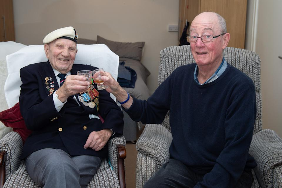 Ian Thomas, 73, and Dougie Shelley, 95, will spend Christmas Day together (swns)