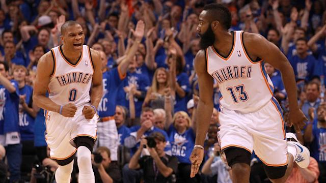 James Harden and Russell Westbrook were part of one of the most promising teams in history until they were not. Now they are back together.