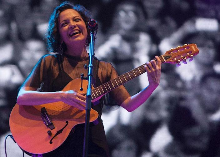 Mexican singer Natalia Lafourcade will perform as part of the Spanish-language US network Univision's concert at the Cross Border XPress (AFP Photo/Julio Cesar Aguilar Fuentes)