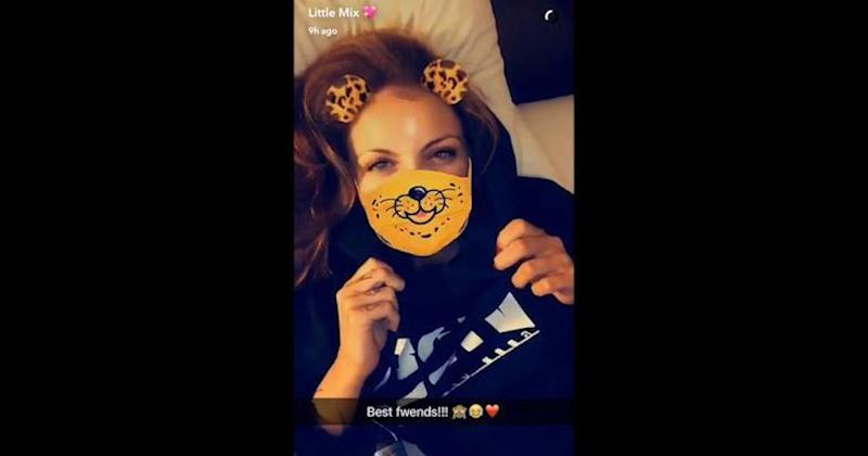 Jesy shared a video on Snapchat to address the rift rumours (Copyright: Snapchat)