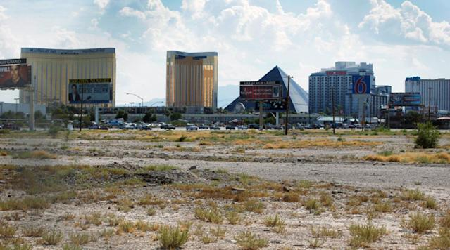 An empty parcel near the action beckons stadium-builders; casino owners won't mind the proximity.