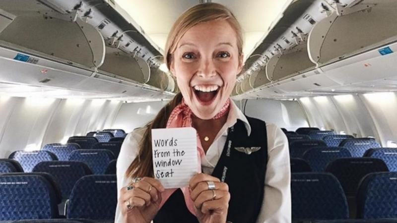 This Flight Attendant Leaves Empowering Notes for Passengers to Stumble Upon