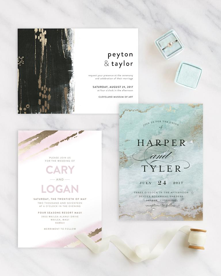 <p>For the right amount of sophistication, consider pulling metallics into your wedding