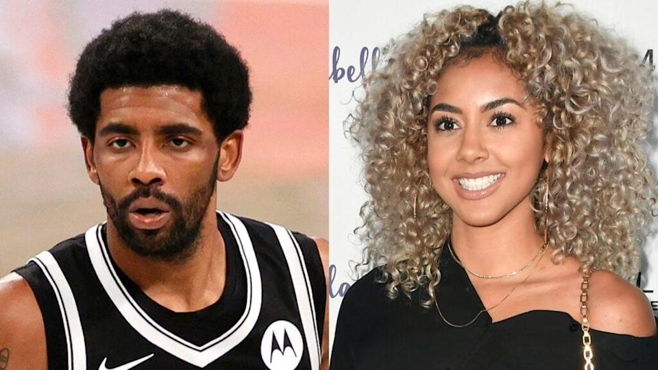Brooklyn Nets star Kyrie Irving (left) and model Marlene Wilkerson (right) have a brand new addition to their family. (Photos by Sarah Stier/Getty Images and Frazer Harrison/Getty Images)