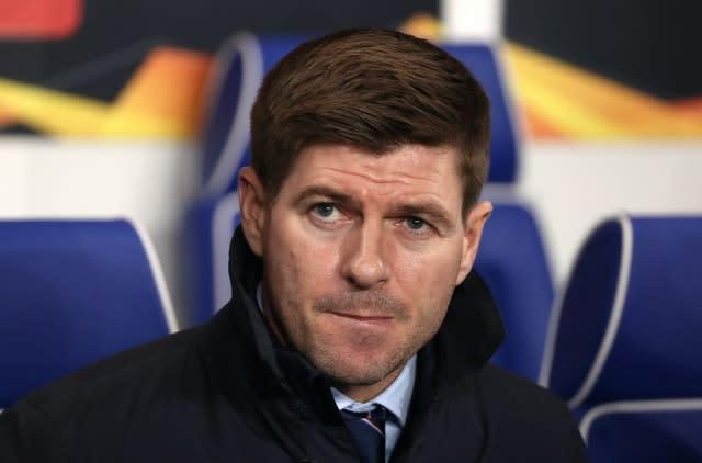 Steven Gerrard's side sit second in the Ladbrokes Premiership standings (Andrew Milligan/PA)