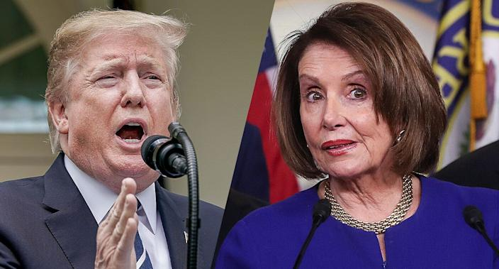 President Trump and House Speaker Nancy Pelosi. (Photos: Chip Somodevilla/Getty Images, Jonathan Ernst/Reuters)