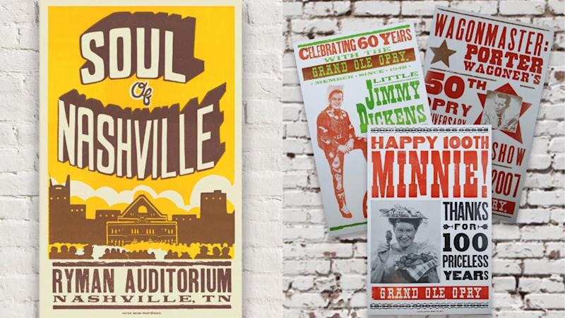 The Tennessean / Reviewed 2019 gift guide: Hatch posters from the Ryman Auditorium