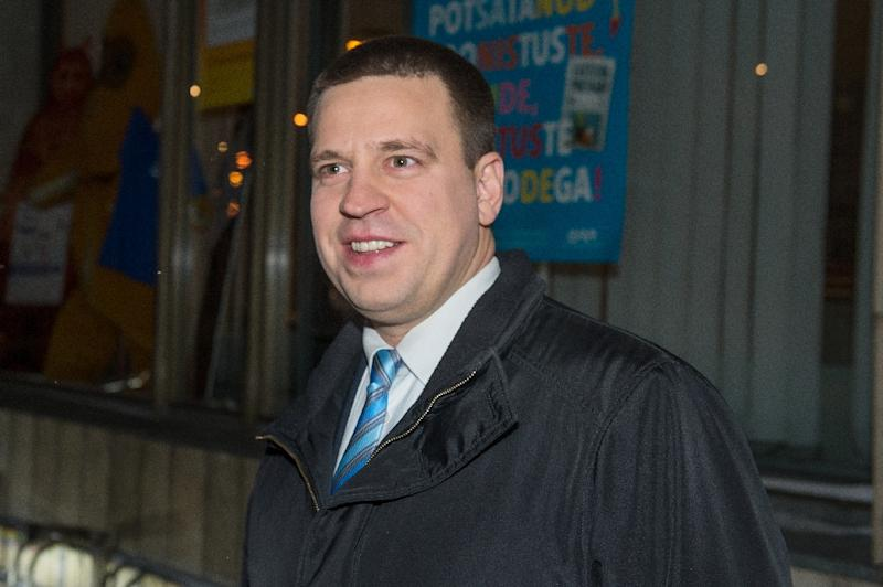 Juri Ratas, who heads the Centre Party, is popular among Estonia's large Russian-speaking minority