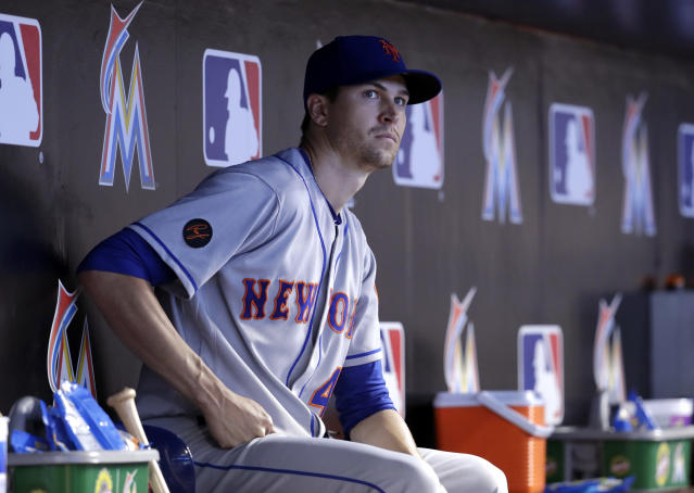 Jacob deGrom is tired of all the losing on the Mets. (AP Photo)