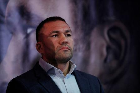 FILE PHOTO: Boxing - Anthony Joshua and Kubrat Pulev Press Conference - Cardiff, Britain - September 11, 2017 Kubrat Pulev during the press conference Action Images via Reuters/Andrew Couldridge