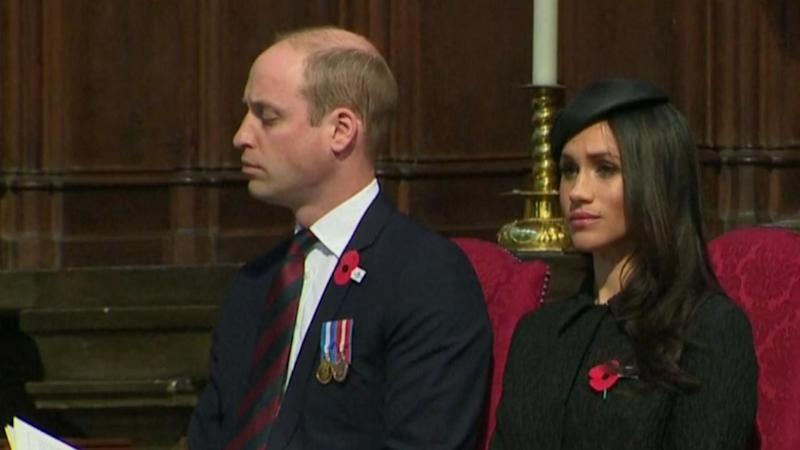 Prince William Nods Off While Sitting Next to Meghan Markle at Church Service
