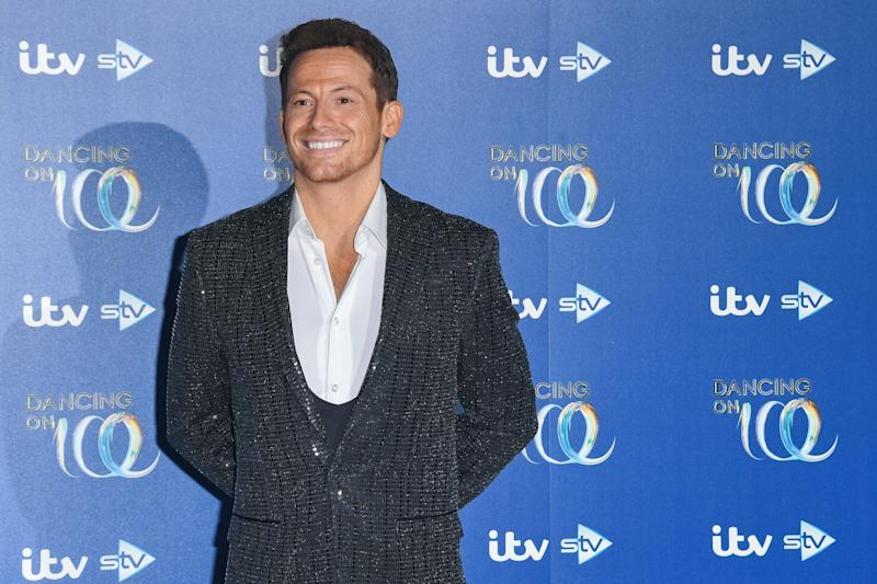 Twinkle toes: Joe Swash looked excited for the challenge (Getty Images)