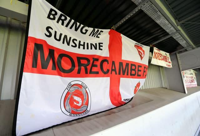 Morecambe are fighting relegation from League Two (Richard Sellers/PA)