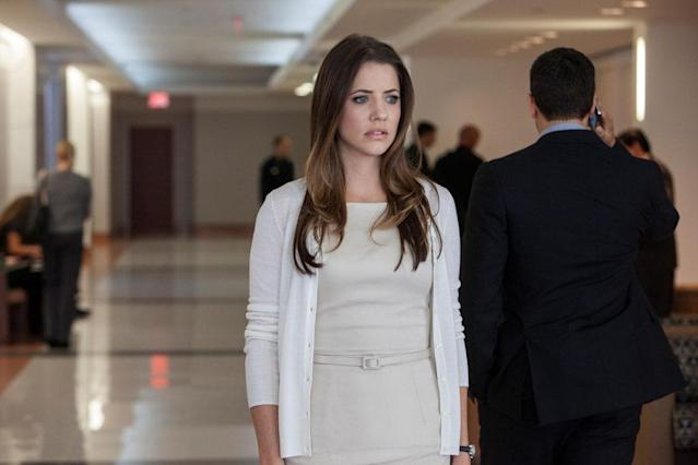 "Julie Gonzalo in the ""Dallas"" Season 2 episode, ""Sins of the Father."""