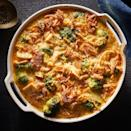 <p>This one-pan chicken-and-broccoli recipe comes out of the oven all browned, cheesy and bubbling like a casserole, but is really prepared more like a skillet meal on the stovetop. Serve with a crunchy green salad.</p>