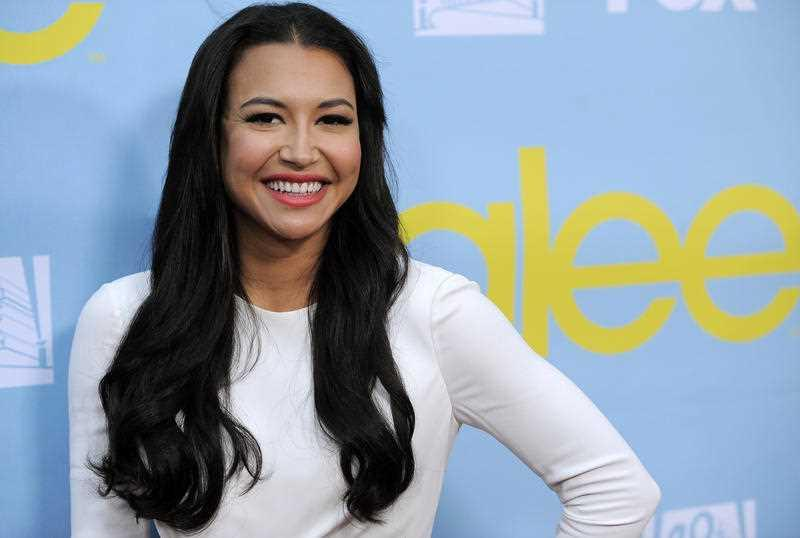 "Naya Rivera, a cast member in the television series ""Glee,"" poses at a screening and Q&A for the show, at the Academy of Television Arts and Sciences in Los Angeles."