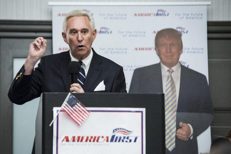 Roger Stone addresses the conservative group America First in March. He spent much of 2016 campaigning for Trump. (Photo: Michael Ares/Palm Beach Post via AP)