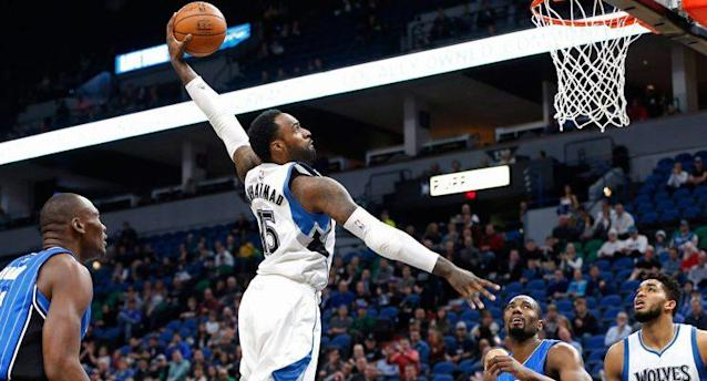 Shabazz Muhammad throws down a dunk. (Jim Mone/AP)
