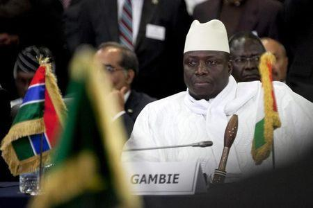 Gambia's President Yahya Jammeh attends an extraordinary meeting of the Economic Community of West African States (Ecowas) in Senegal's capital Dakar