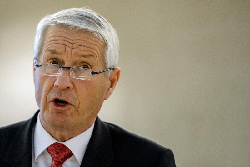 Human organ trafficking is one of the world's top ten illegal money-making activities, generating an estimated $1.2 billion in illegal profits globally each year, Council of Europe secretary general Thorbjoern Jagland, seen here in Geneva, 2013, said (AFP Photo/Fabrice Coffrini)