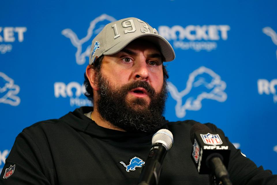 Detroit Lions head coach Matt Patricia speaks during a news conference after a loss against the Minnesota Vikings, Sunday, Dec. 8, 2019, in Minneapolis.