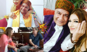 Bigg Boss 12 Videos And Photos: 28 Years Old Jasleen Matharu And 65 Year Old Anup Jalota Lovey Dovey Photos