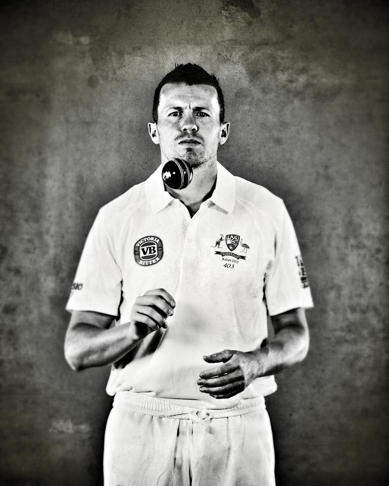 WORCESTER, ENGLAND - JULY 01:  (EDITORS NOTE: This image was processed using digital filters) Peter Siddle of Australia poses on July 1, 2013 in Worcester, England.  (Photo by Ryan Pierse/Getty Images)