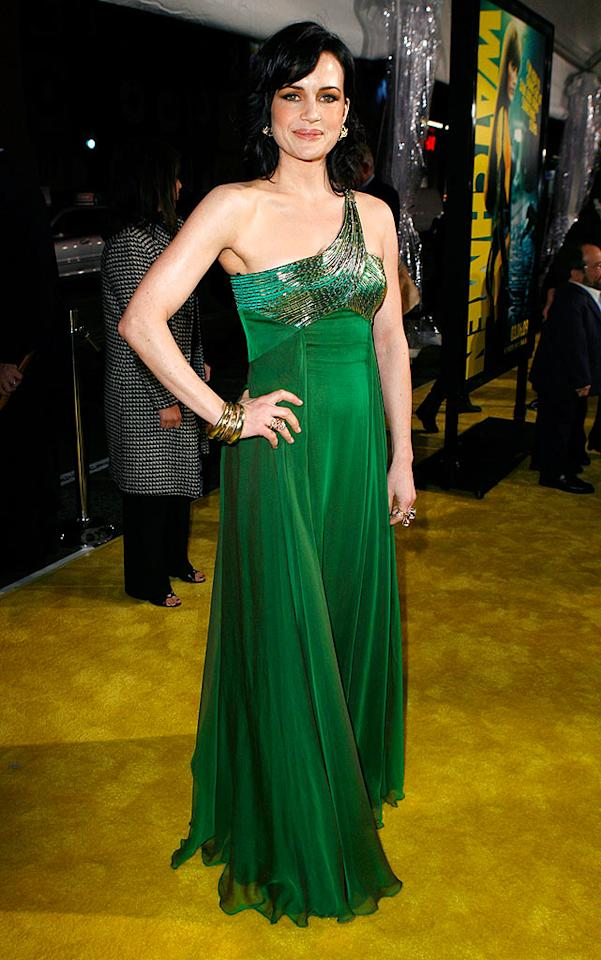 """All eyes were on """"Watchmen"""" star Carla Gugino and her green and gold-flecked gown at the movie's premiere. Jeff Vespa/<a href=""""http://www.wireimage.com"""" target=""""new"""">WireImage.com</a> - March 2, 2009"""
