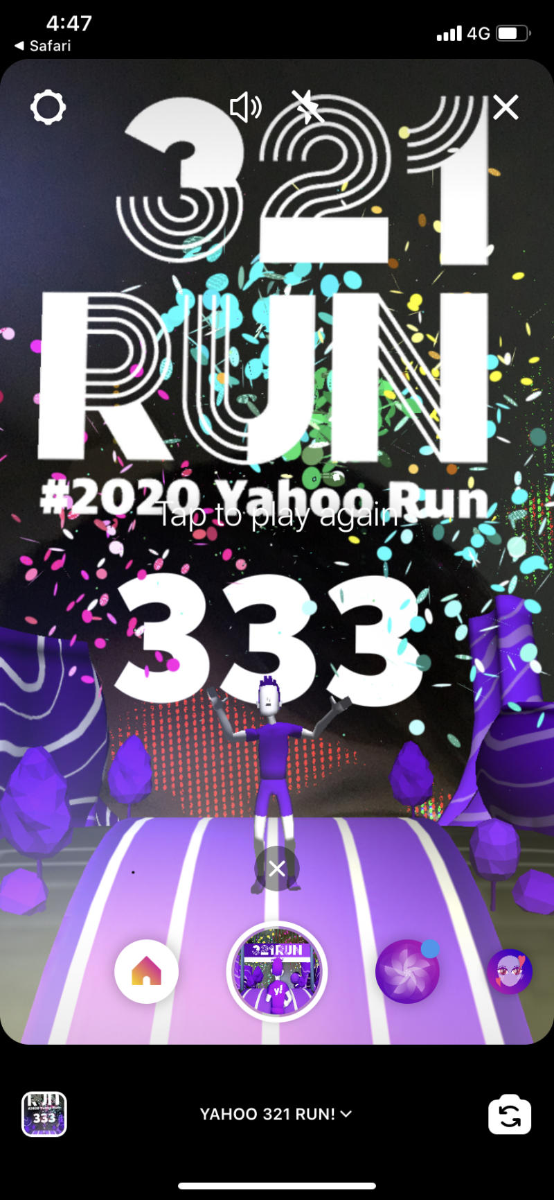 Yahoo AR Run. (PHOTO: Yahoo Lifestyle SEA)