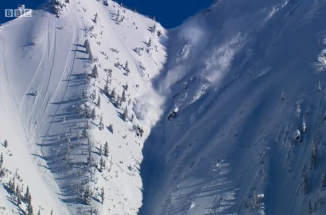 planet earth II avalanche