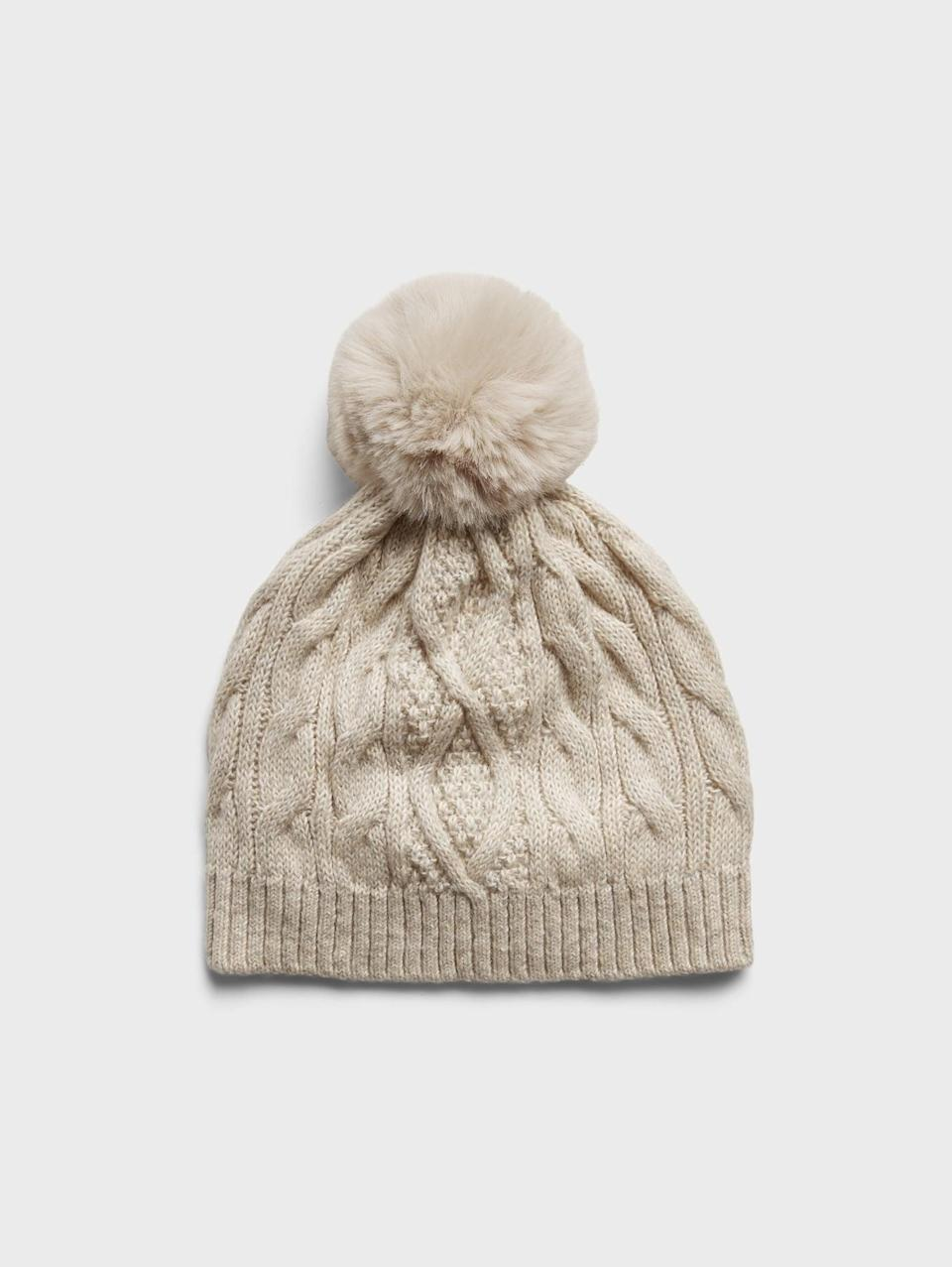 <p>This <span>Banana Republic Cable-Knit Beanie</span> ($33, originally $48) makes the perfect stocking stuffer.</p>