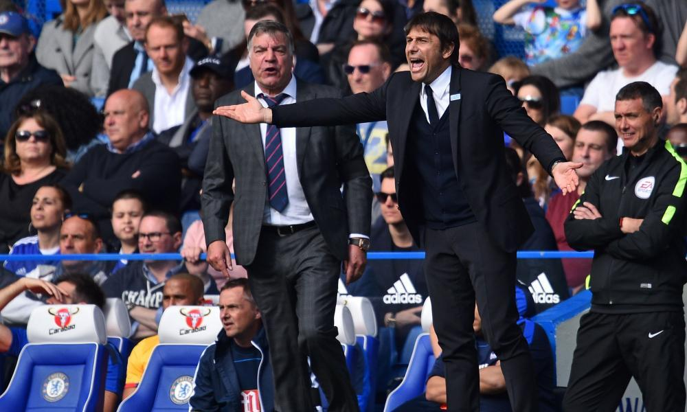 Antonio Conte shows his frustration as Chelsea let their early lead slip to lose at home for the first time since September.