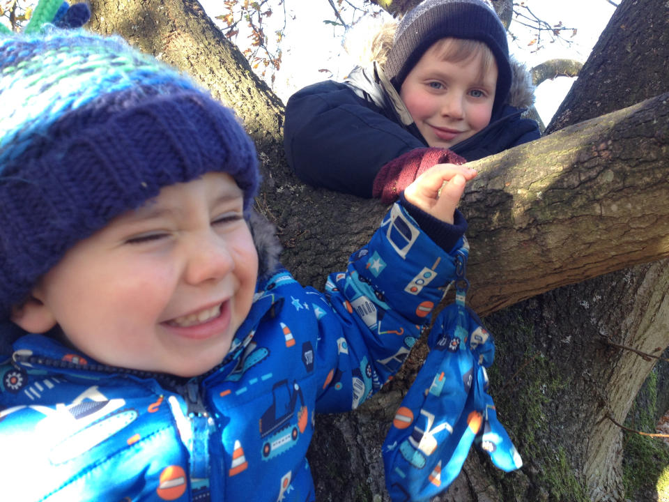 Oliver Hall, 6, is pictured with his brother Charlie.
