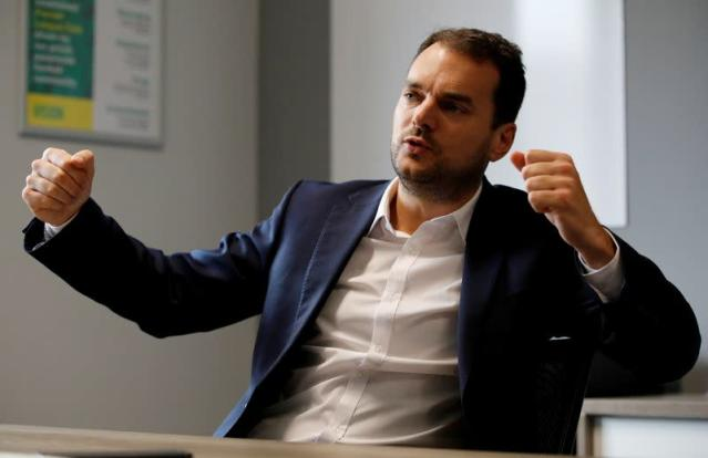 FILE PHOTO: Norwich City's Sporting Director Stuart Webber gestures during an interview at the club's training ground in Norwich