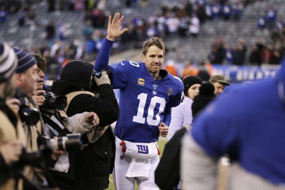 Eli Manning will announce his retirement this week, according to an ESPN report. (AP Photo/Adam Hunger, File)