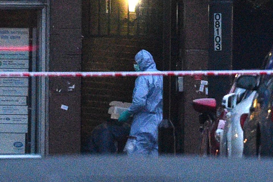 Police forensic officers at the scene in Streatham High Road, south London after a man was shot dead by armed officers, with police declaring the incident as terrorist-related. (Photo by Kirsty O'Connor/PA Images via Getty Images)